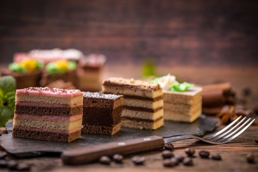 Square sweet cakes