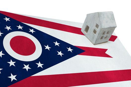 Small house on a flag - Ohio