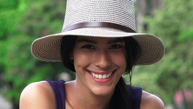 Smiling Hispanic Teen