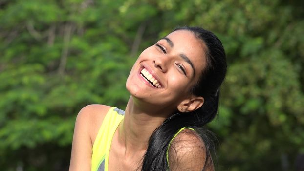 Colombian Teenager Laughing