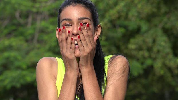Surprised Beautiful Female Teen