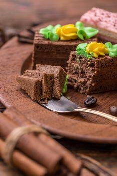 Small square cake
