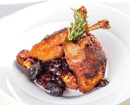 Roasted duck drumstick