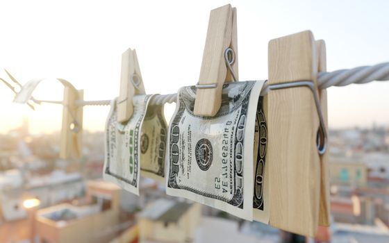 washing money concept background photo