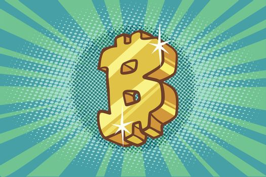 Bitcoin cryptocurrency icon symbol sign