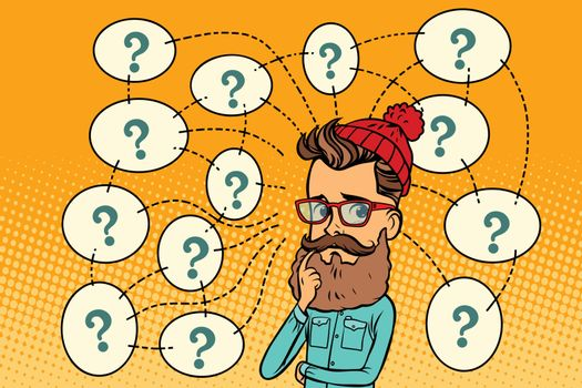 Hipster solves the problem, questions and reflections