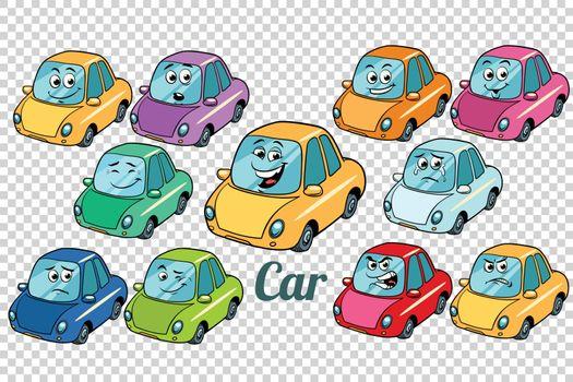 car vehicle automobile collection set neutral background