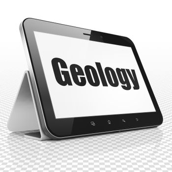 Science concept: Tablet Computer with Geology on display