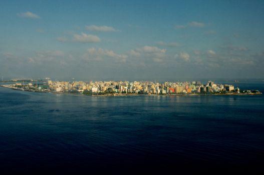 Maldivian Capital from Flight