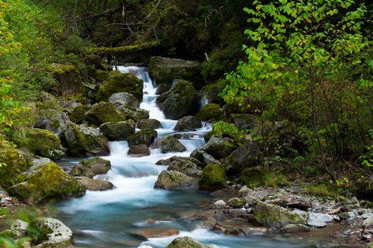 Cascade of waterfall