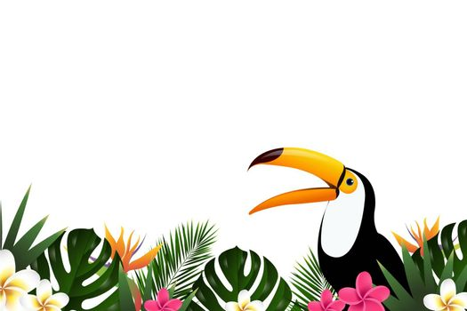 Summer Sale Banner With Toucan