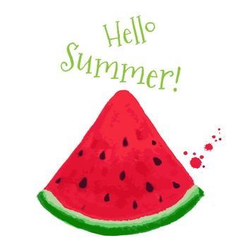 Hello Summer Postcard