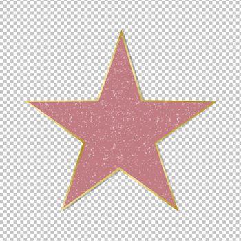 Fame Star On Transparent Background