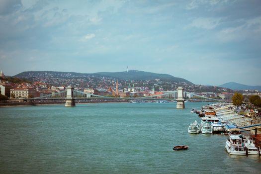 Szechenyi Chain Bridge of Budapest