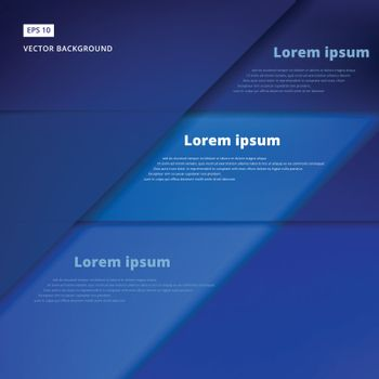 Abstract background with blue paper overlap layers, template for