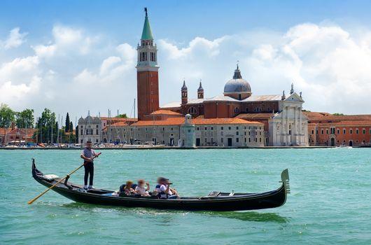 Tourists in gondola