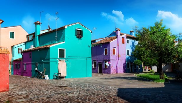Bright colored houses