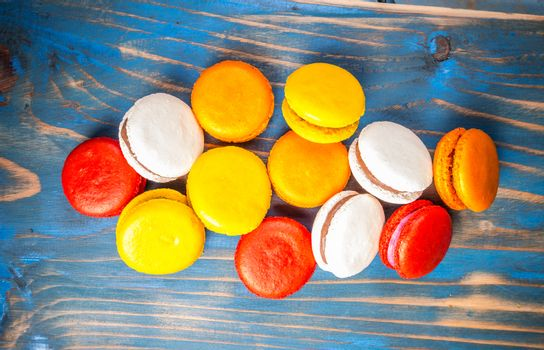 Colourful french macaroons
