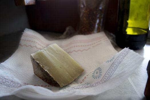 wedge of fiore sardo the sardinian pecorino