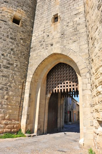 fortification door of Aigues Mortes