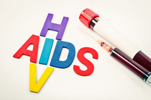 AIDS and HIV concept.