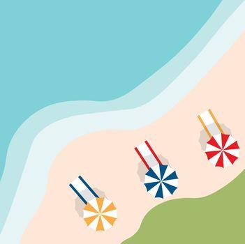 Vector a banner with an landscape beach