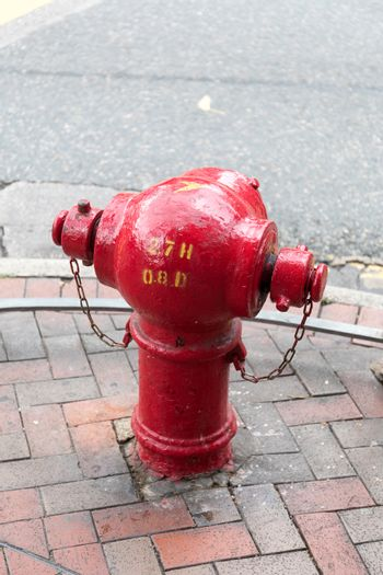 Red Fire Hydrant in Hong Kong