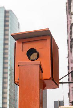 Speed Trap Camera in Orange Box Hong Kong