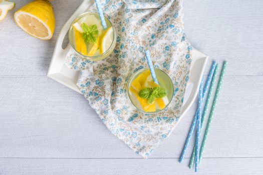 Summer citrus fruits drink