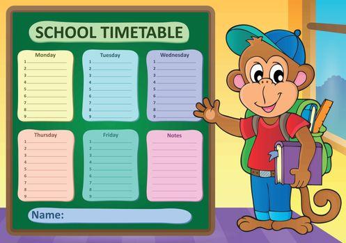 Weekly school timetable subject 9