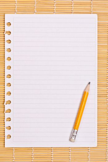 Note paper and pencil