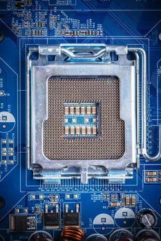 Blue electronic circuit board