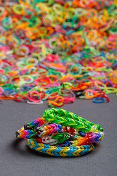 Colorful rainbow bracelet