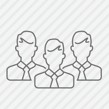Vector flat line businessmen icon