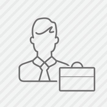 People line icon. Business man line vector illustration