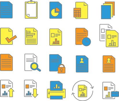 Report line icons. Vector illustration.