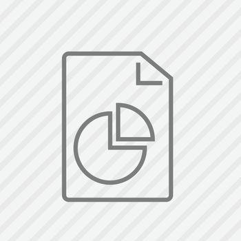 Report line icon. Vector illustration.
