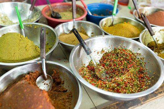 Herbs and condiment in wet market