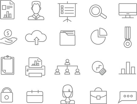 Business web line icons.