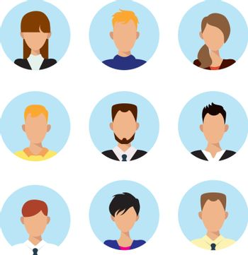 Character or people avatar icons vector illustration