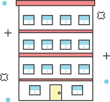 Apartment construction color line icon. Buildings, property, architecture and materials vector illustration