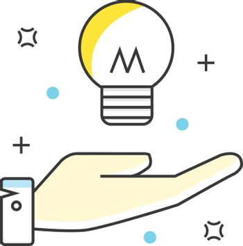 Business idea color line icons. Vector illustration