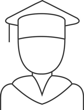 Graduate education line icons. Vector illustration