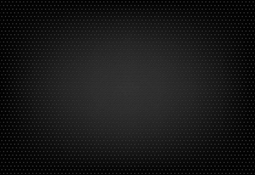 Dotted Texture On Black Background - Abstract Illustration, Vector