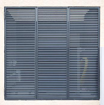 Square metal ventilation grille