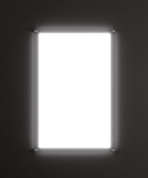 Rectangular advertising lightbox