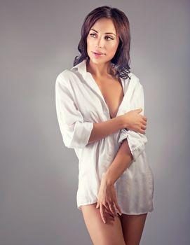Seductive woman portrait