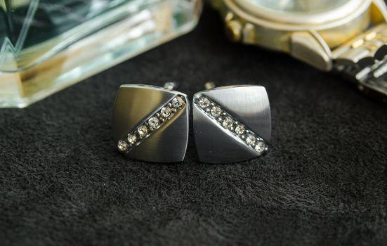 Cufflinks with precious stones
