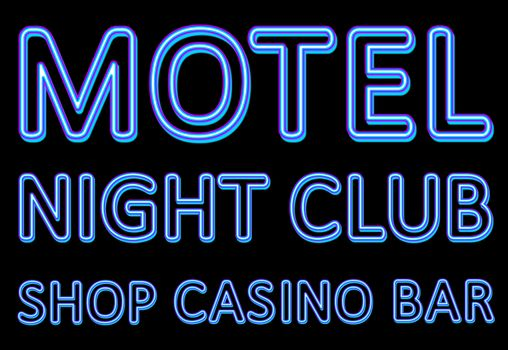 Neon sign of a night entertaining institution