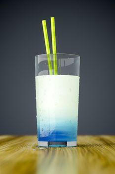 strange blue drink
